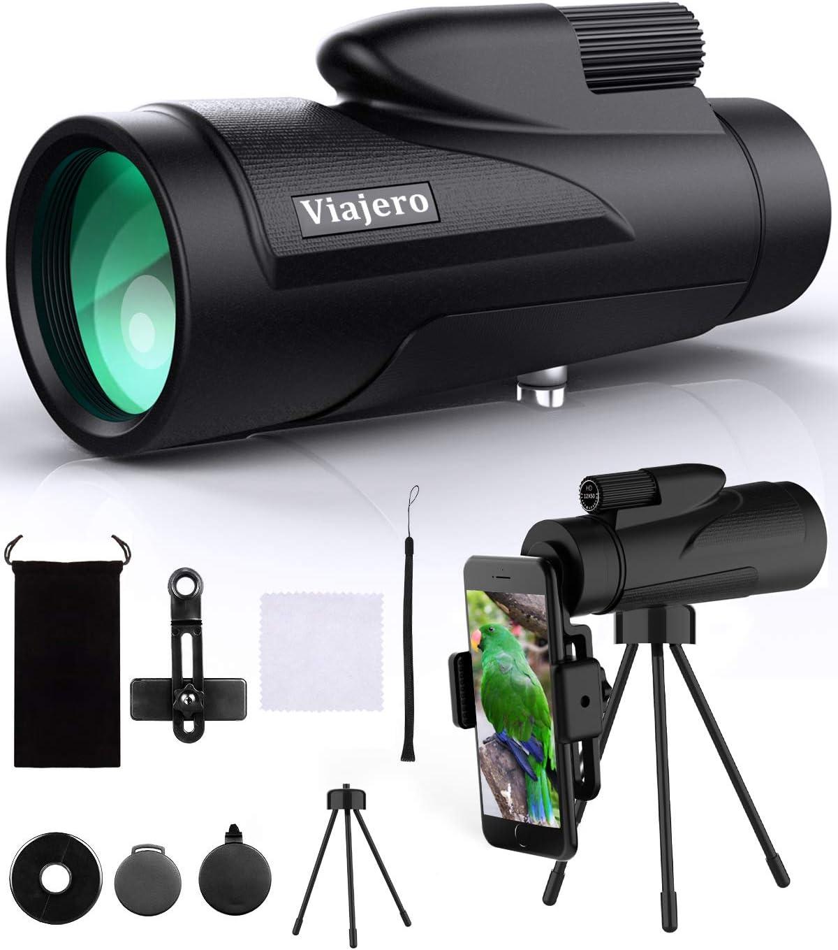 Viajero 12X50 Monocular Telescope 55% OFF Finally popular brand Sma with Power High