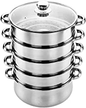 XMDD Stainless Steel Steamer 5-layer Steamer Three-layer Composite Bottom High Quality Practical Safe And Sanitary Suitabl...