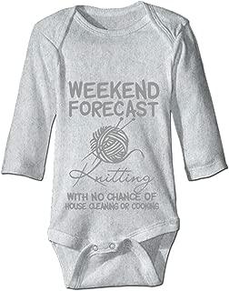 Weekend Forecast Knitting Custom Personalized One-Piece Baby Bodysuit