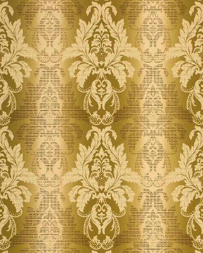 3D Damast behang EDEM 770-31 Barok behang structuur vinylbehang olijf-groen pistache licht groen brons