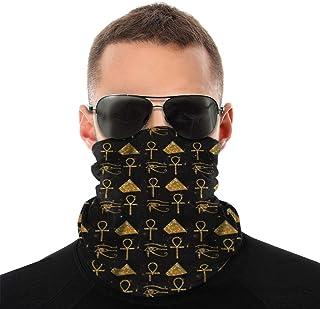 Nother Sommarpyramid Horus-öga egyptiska symboler bandana ansiktsmask – damm sol UV-skydd halsdamask – för löpning vandrin...