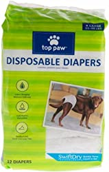Top Paw Disposable Dog Diapers - 12 Pack