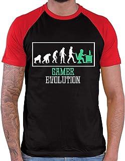 HARIZ Camiseta de béisbol para hombre, diseño de evolución de los jugadores, incluye tarjeta de regalo