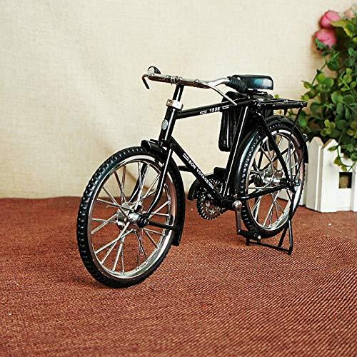 KIKIXI Bicicletta da Bici da Uomo Ultra-Vintage Creativa con Portamonete Ornamenti in Metallo Fatti a Mano Arredamento per la casa Vintage Ultra-realistica Bici Vecchio Stile Nero