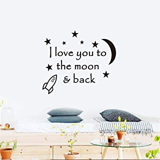 Wall Decor Stickers for Living Room I Love You to The Moon and Back for Nursery Kids Room Play Room Game Room Baby Room Boys Room