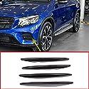 4 x Kohlefaser-ABS-Auto-Lufteinlass-Gitter-Streifen, Zubehör für Benz GLC-Klasse X253