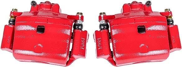 Callahan CCK05269 [2] FRONT Premium Semi-Loaded Red Brake Caliper Pair + Hardware [ for Ford Fusion MKZ Milan Mazda 6 ]