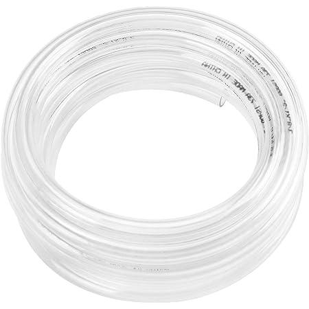 Clear Vinyl Tubing Flexible PVC Tubing, Hybrid PVC Hose, Lightweight Plastic Tubing, by 3/8 Inch ID, 10-Feet Length