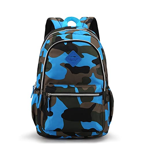 13d9af0e90 Waterproof Camo Backpack for Elementary   Middle School Kids Bookbag for  Military Fans Women Men Tactical