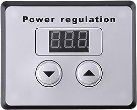 Walfront - Regulador de Intensidad Digital (10000 W, SCR, Control de Velocidad, termostato de regulación de Voltaje, CA 220 V 80 A)