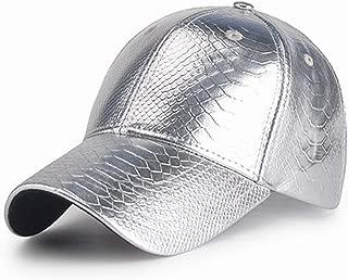 Hats Summer Baseball Cap Men's Silver Hat Golden Women's Autumn Simple Goal Fjong Fishing Lightweight Time Thin Plain Palm Tree UV Cut Adjustable Outdoor Fashion (Color : Silver)