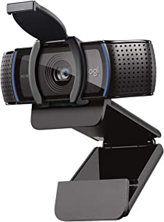 Logitech C920S HD Pro Webcam with Privacy Shutter - Widescreen Video Calling and Recording, 1080p Streaming Camera, Deskto...