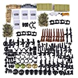 Lingxuinfo Military Army Weapons Toy Weapon Accessories for Brick Figures, Army Weapons Sandbag Bricks Building Blocks Toy Compatible with Major Brand