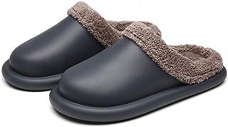 INMINPIN Femme Hiver Pantoufles Homme Chaussons de Maison Chaud Sabots en Peluche Imperméables Chaussures de Jardin Intéri...