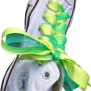 ファッション靴靴紐for Athletic RunningカジュアルシューズMixedカラー(フルーツイエロー+オイルグリーン)
