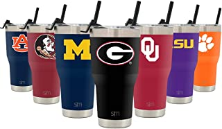 NBA & NCAA 30oz Cruiser Tumblers with Closing Lid and Straw - 18/8 Stainless Steel Vacuum Insulated Travel Mug