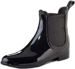 Henry Ferrera Women's Clarity Black Waterproof Ankle Rubber Rain Boots (8 B(M) US)