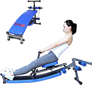 Home Rowing Machine, Indoor Foldable Rowing Machine Rowing Bench Abdominal Fitness Equipment, 12 Resistance Adjustment, Do...