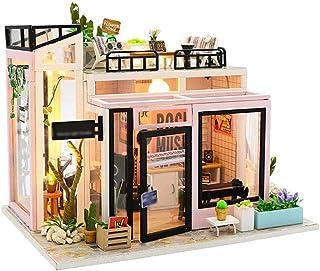 XYZMDJ Miniatyr dockhus, dockhus miniatyr gör-det-själv hus kit perfekt gör-det-själv present till vänner, älskare och fam...