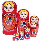 Muñecos nidos rusos Matryoshka creativos de madera apilable nido conjunto hecho a mano, juguetes pintados a mano, día de la madre, cumpleaños