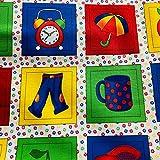 Stof Fabrics STOF37 Stoffpaneel für Kinderzimmer, ABC