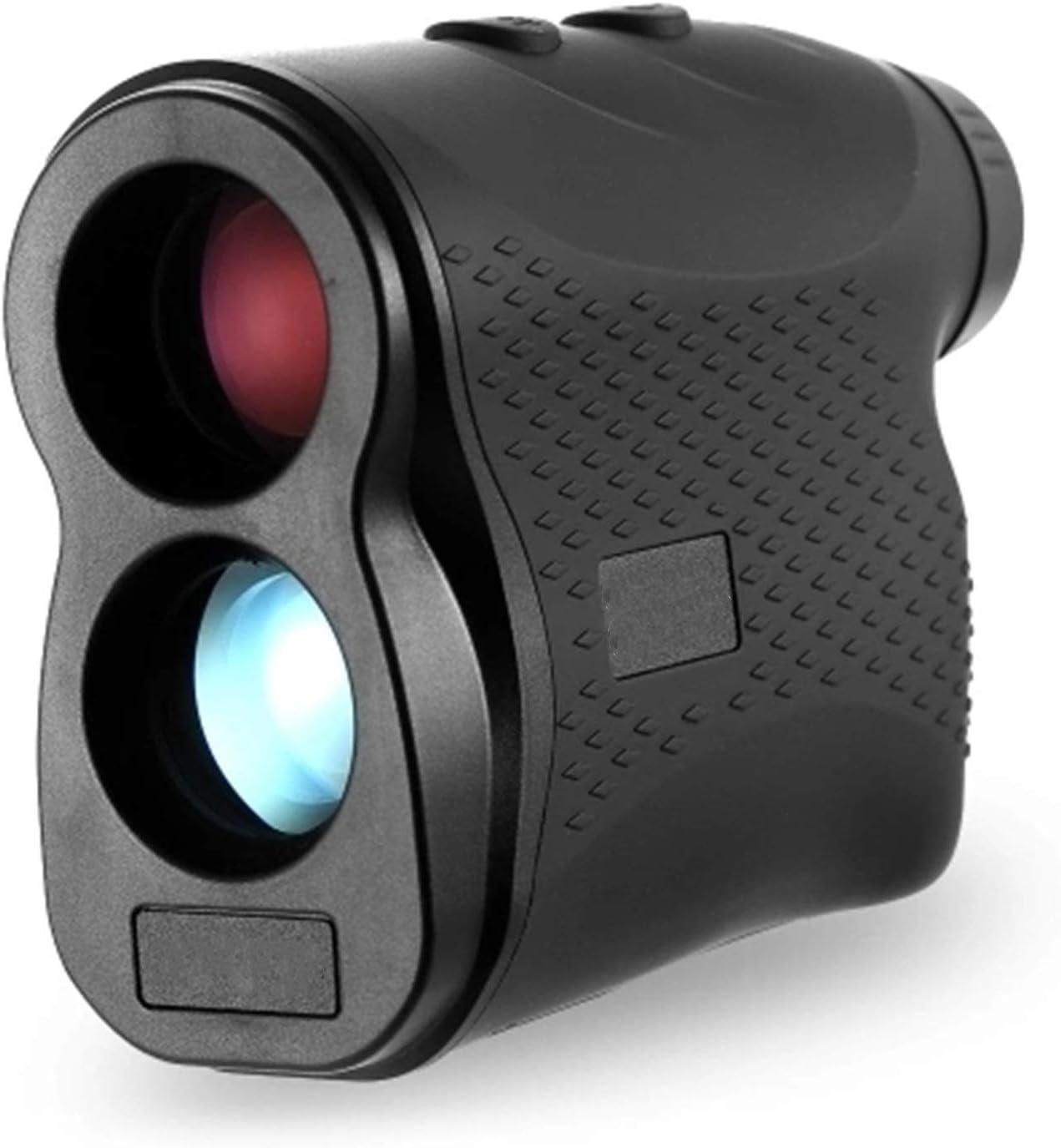 CuteLife Telémetro de Golf 6X Ampliación 600M Gama de Golf para la Caza con Arco (Color : Black1, Size : One Size)