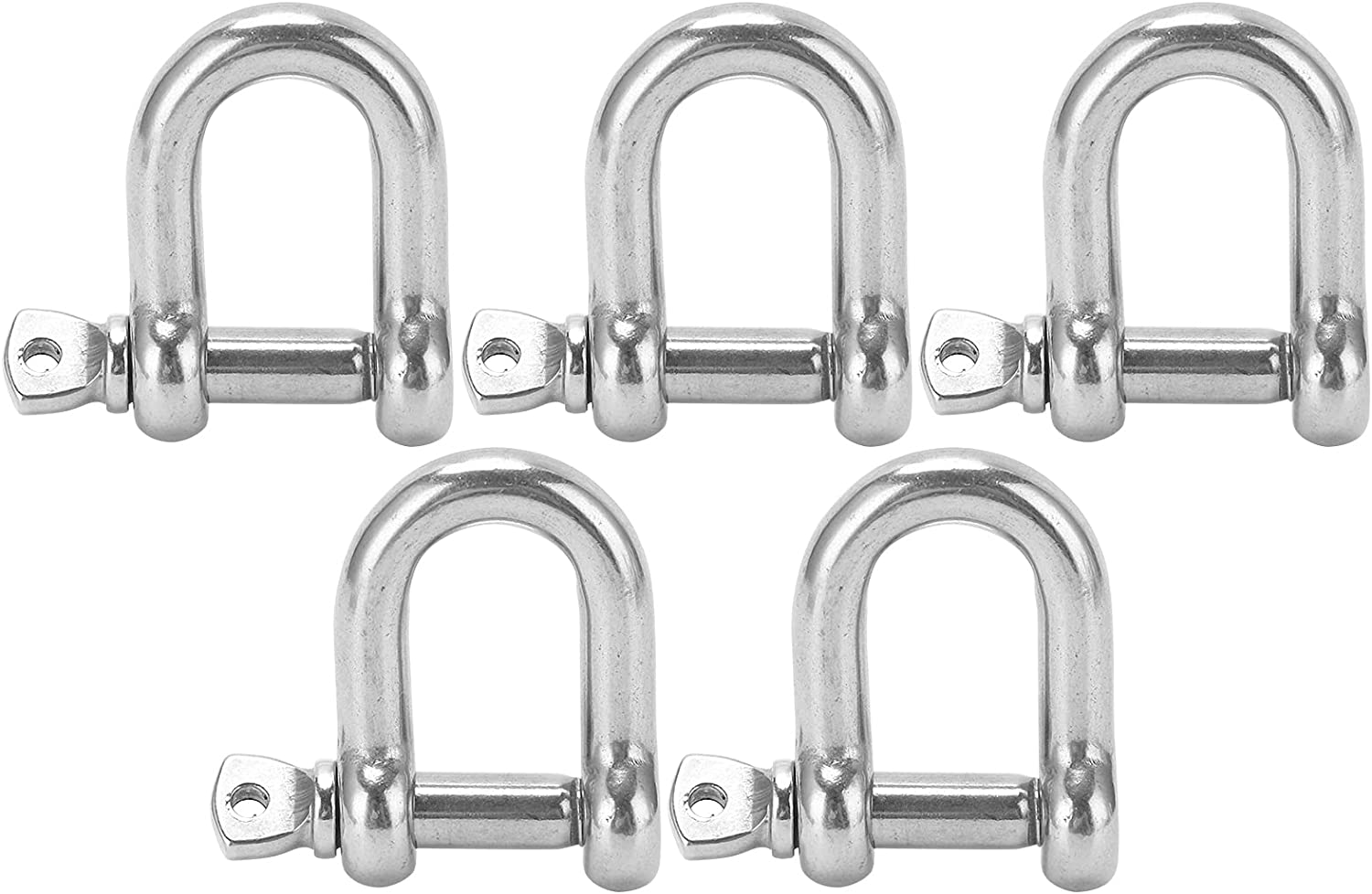 YIUS Stainless Steel 5PCS D Shackle Dut Pin 5 ☆ very free popular 304 Heavy with Screw