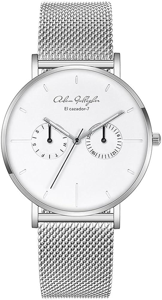Adam Gallagher 5ATM Men Virginia Beach Mall Quartz Stainless Wrist Black Free shipping New Watch