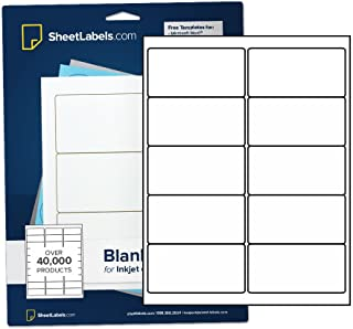 "2"" x 4"" Labels for Shipping/Mailing from SheetLabels.com, Laser or Inkjet Printable, 250 Labels - 25 Sheets"