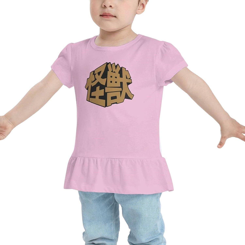 GZNPVL Kaiju Japanese Monstar Baby Girl Cotton T-Shirt Short T Shirts Dresses
