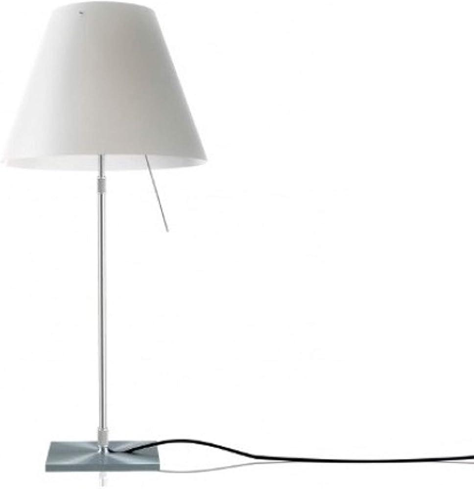 Luceplan costanzina,lampada led da tavolo,il paralume in policarbonato è collegato alla struttura in alluminio 1D13=NPLC020