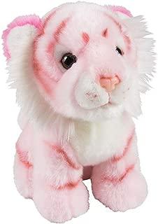 Wildlife Tree 7 Inch Stuffed Pink Tiger Plush Sitting Animal Prism Collection