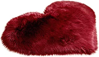 Creazy Wool Imitation Sheepskin Rugs Faux Fur Non Slip Bedroom Shaggy Carpet Mats (H)