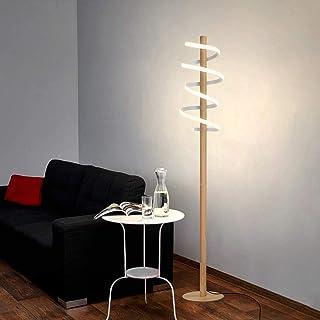 ZMH LED lampadaire blanc 30W blanc chaud lampadaire Moderne Spirale Conception 140CM éclairage intérieur en métal pour sal...