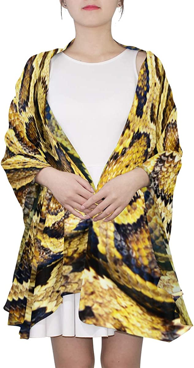 Green Boa Constrictor Unique Fashion Scarf For Women Lightweight Fashion Fall Winter Print Scarves Shawl Wraps Gifts For Early Spring