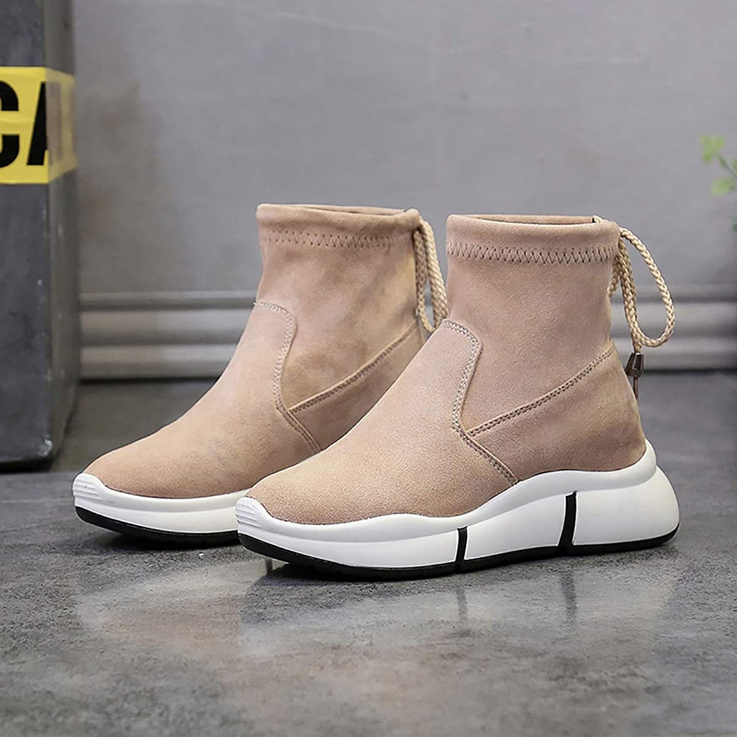 Small Booties Female Winter, Comfortable Trend Ladies Snow Boots,Brown,38