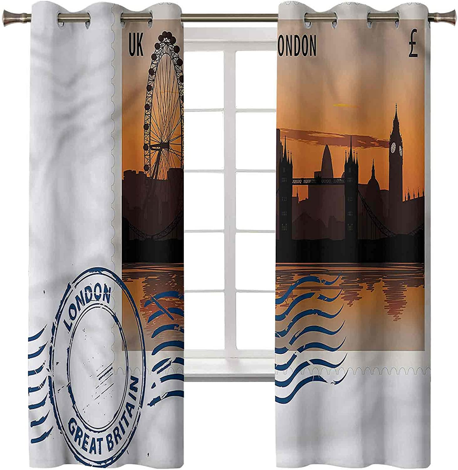 London Recommendation Blackout Curtains for overseas Bedroom Set of 84 x Panels 2 42 In
