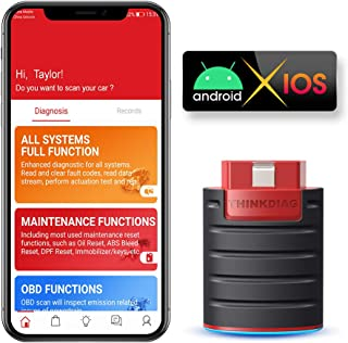 thinkcar | THINKDIAG OBD2 Scanner Bluetooth, Ideal Diagnostic Scan Tool for Coding, Bi-Directional Control, 16 Special Functions, All Systems Diagnosis, Same as 2000-Bucks Auto Scanner