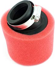 Yingshop Universal 35mm Red Angled Double Foam Pod Performance Air Filter Cleaner Replace 50cc 70cc 90cc 110cc 125cc Motorcycle Yamaha Suzuki ATV Quad Scooter Go Kart Moped Pit Dirt Bike Racing Super