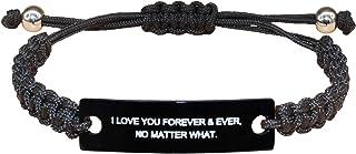 Rortier Handmade Bracelets for Boys Girls Inspirational Bracelets for Women Adjustable Bracelets for Kids Mother Daughter ...