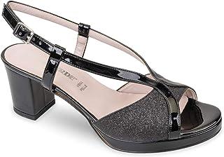 Valleverde Sandalo Donna Sintetico 45373 Gold o Black. Una Calzatura Comoda Adatta per Tutte Le Occasioni. Primavera Estat...