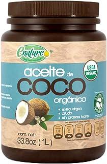 Enature Aceite de Coco Orgánico, Virgen, 1 L