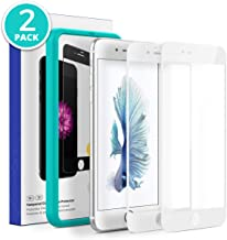 X'tal S HD Full Coverage Tempered Glass Screen Protector with True Touch Sensitivity for iPhone 6/6s, 2-Pack, White