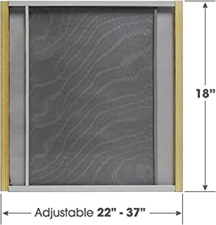 Adjustable Window Screen Built to Help Air Circulate Through Your Home, Adjusts Its Width Within a Range of 22