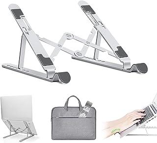 Bärbart laptopstativ, Lmlly 7 nivåer av höjd justerbar laptop-höjare, bärbar datorhållare för skrivbord kompatibel med Mac...