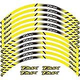 Etiqueta engomada de la Rueda FIT TMAX TMAX500 TMAX530 500 530 15 '' 12 x Bordo Spesso Esterno Rim Sticker Pegatinas de Rueda de Banda (Color : Yellow)