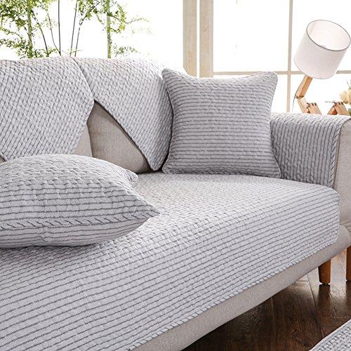 SAFAJINHH Sofaüberwurf,Baumwolle Sofa Simple Modern Sofabezug Vier Jahreszeiten Anti-Schleudern Sofaüberwurf-G 90x160cm(35x63inch)