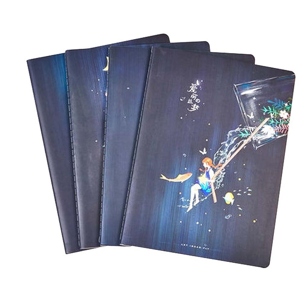 フレキシブル以降護衛学生ラボノートブッククラシックノートブックソフトカバーノートブックダイアリーノートブックジャーナルセット4