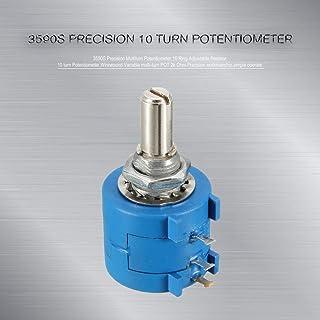 Taiss//10 giri Potenziometro di precisione a filo avvolto rotante 3590S-2-104L 100k ohm 10 anelli Manopola rotante con Quadrante di conteggio resistenza variabile conteggio Potenziometro con a filo multi giro di precisione