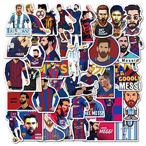 WYZN 50 pz Football Star Messi Cartoon Sticker Personalità Creativa Fai Da Te Bambini Scrapbook Decorazione Notebook Computer Impermeabile Scooter Vinile Adolescente Vsco Graffiti Sticker Decal